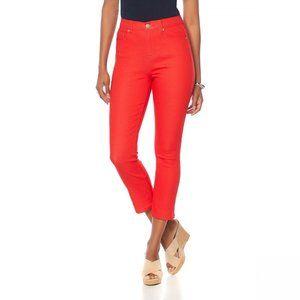 NWT DG2 by Diane Gilman Skinny Jeans 10 Petite Red